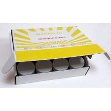 Коробка с 12 баночками для хранения диафильмов